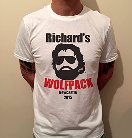 5c09baf990086 Stag Party T-Shirt | Wolf Pack Personalised Stag T-Shirt ...
