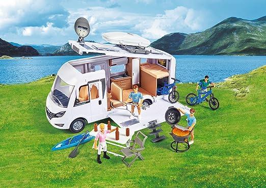 Dickie Toys Playlife - Caravana de Camping Hymer con Accesorios y Figuras Articuladas, para Niños a partir de 3 Años - 30 cm