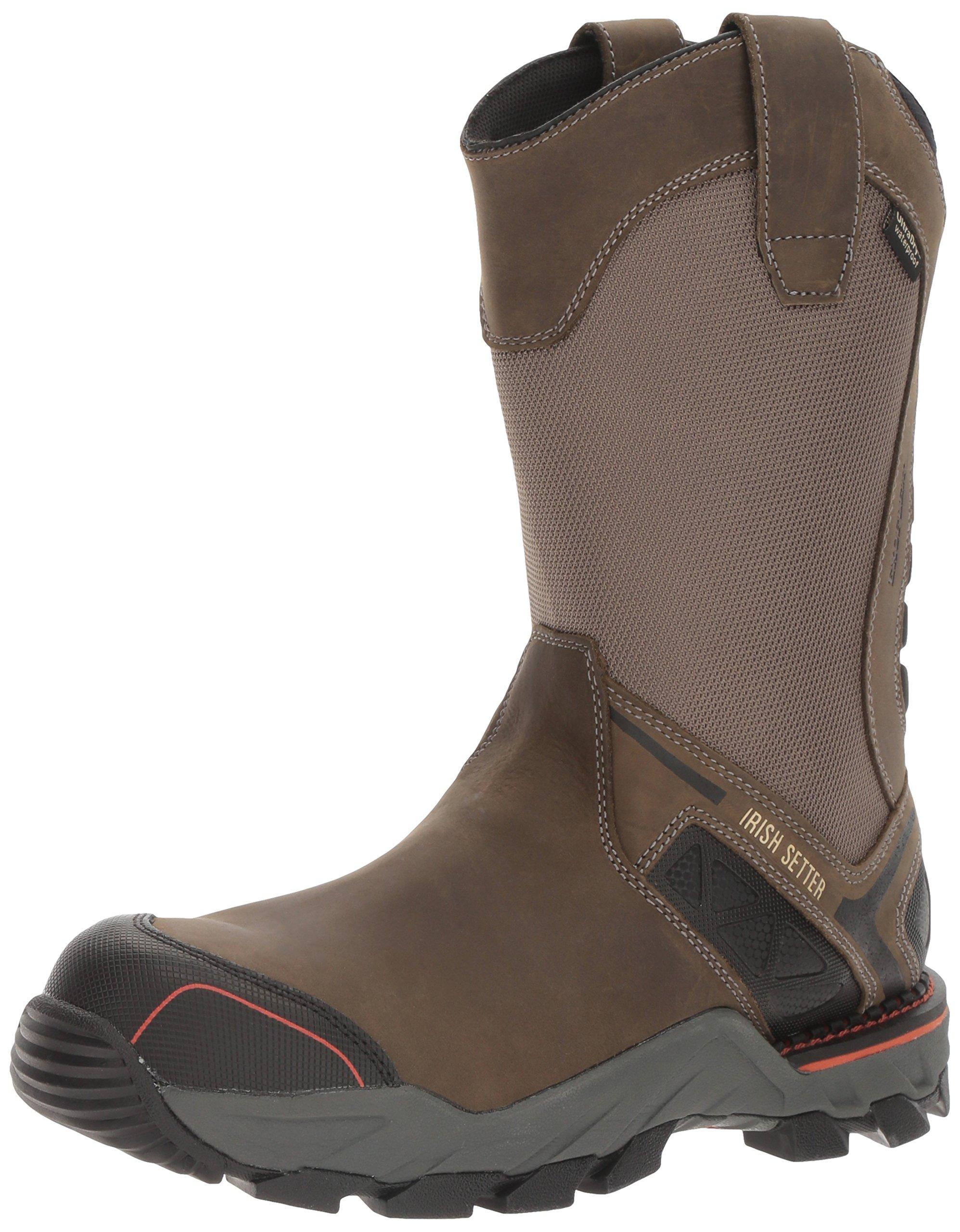 Irish Setter Work Men's Crosby Nano Toe Waterproof Pull-on Boot, Gray, 11.5 D US
