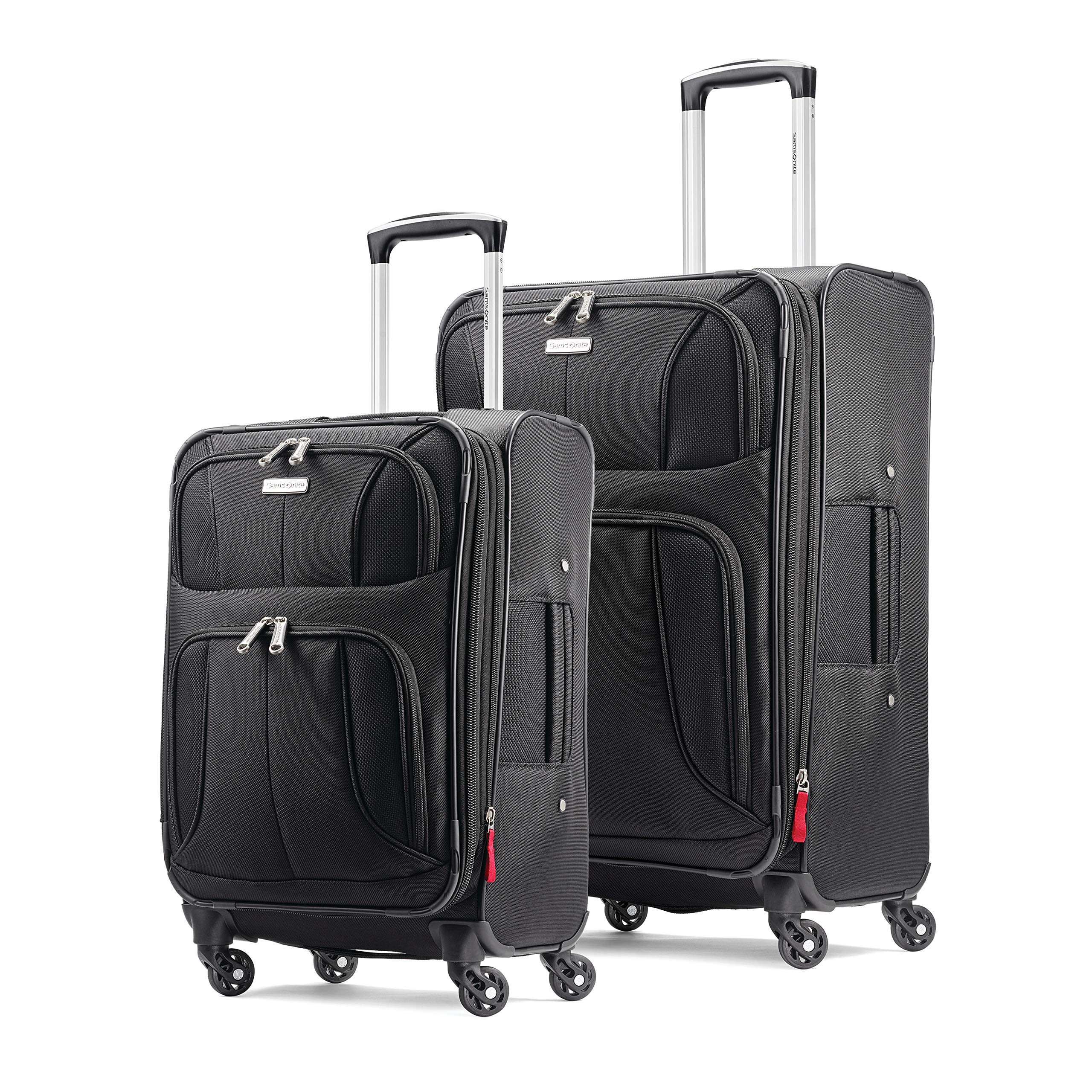 Samsonite Aspire xLite Expandable Softside Set with Spinner Wheels, 2-Piece (20''/25''), Black