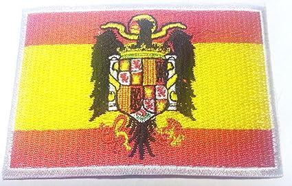 Parche España parches bordados para chaquetas de imagen de planchar Aplicación de parches bordado aufbügler Banderas banderines termoadhesiva (España 8,5 x 6 cm