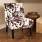 Merveilleux Kalee Cow Print Fabric Dining Chair