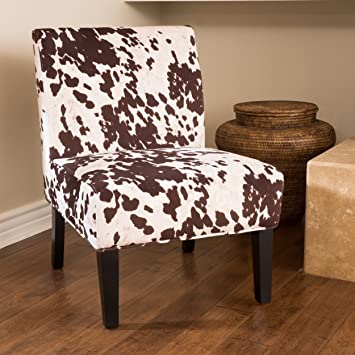 Ideal Amazon.com - Kalee Cow Print Fabric Dining Chair - Chairs LK24