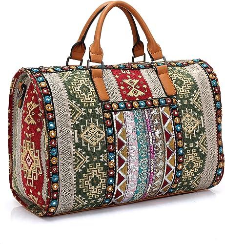 Carry on weekender or general purpose ethnic Bag Travel Duffel Tote