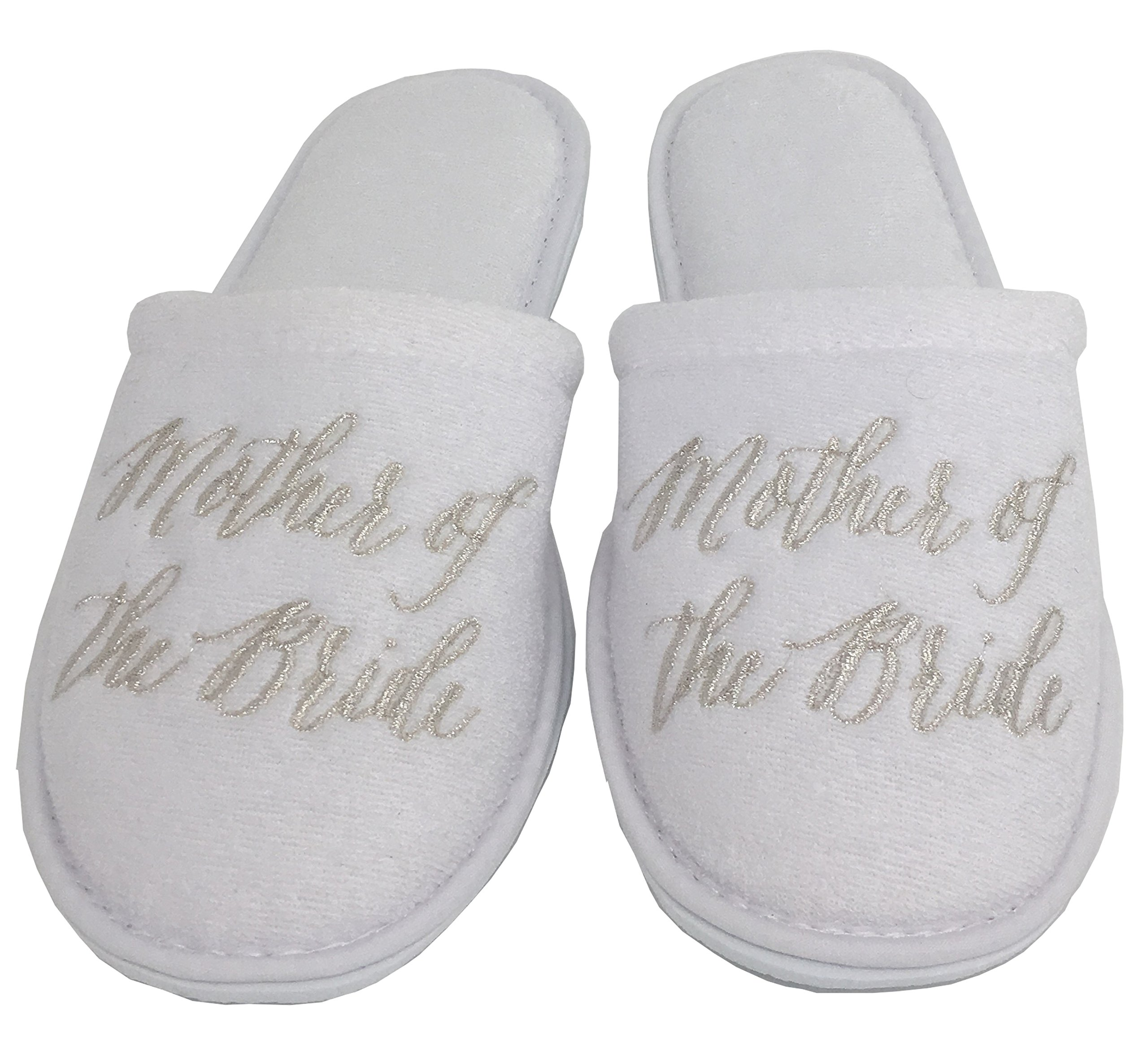 Personalized Slippers Wedding Slippers - (Large (W-7-9), Mother Of The Bride)