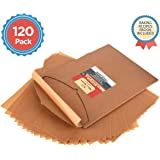 Parchment Paper Baking Sheets by Baker's Signature | Precut Non-Stick & Unbleached - Will Not Curl or Burn - Non-Toxic & Comes in Convenient Packaging - 12x16 Inch Pack of 120