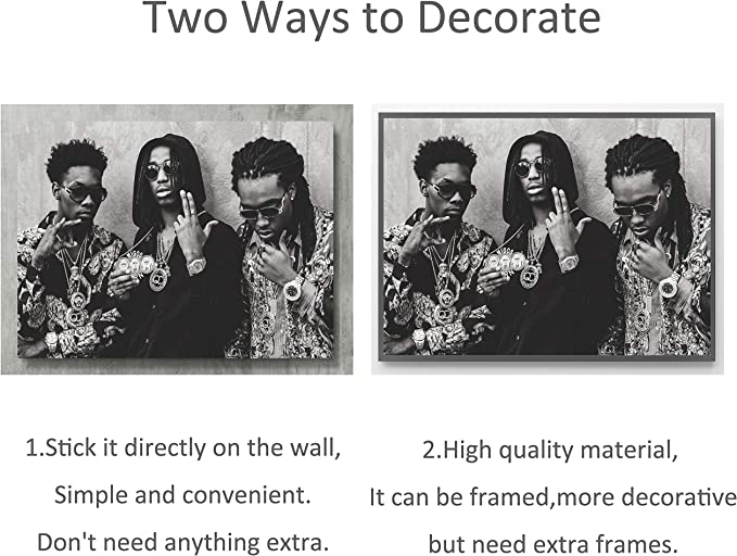 QUAVO Choose Size /& Media D Canvas or Poster Hip Hop Rap Poster