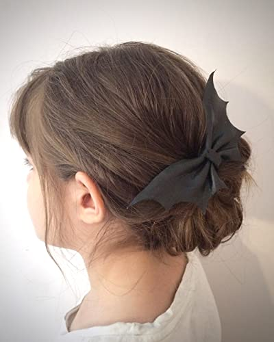 Amazon Leather Bat Hair Bow Clip Handmade