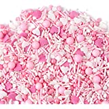 Sweets Indeed Pretty In Pink Sprinklefetti, Hearts, Sprinkles for Baking, Jimmies, Gluten Free (Single)