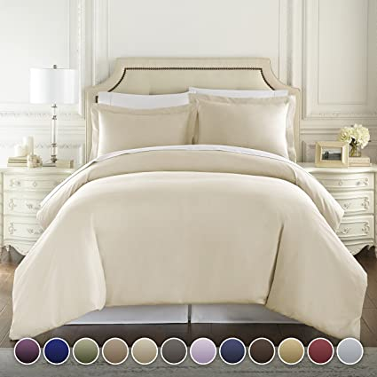 Hotel Luxury 3pc Duvet Cover Set 1500 Thread Count Egyptian Quality Ultra  Silky Soft Top