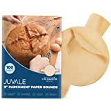 Juvale Unbleached Baking Parchment Paper Rounds with Easy Lift Tabs (9 in, 100 Sheets)