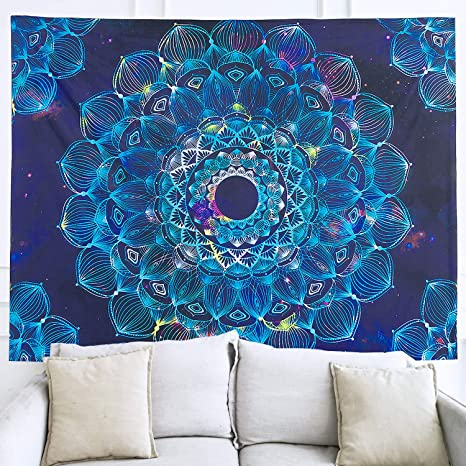 Amazon Com Novforth Large Mandala Indian Hippie Wall Hanging Tapestry Bohemian Cloth Tapestry For Bedroom Tapestry Wall Hanging Aesthetic For Living Room Home Kitchen