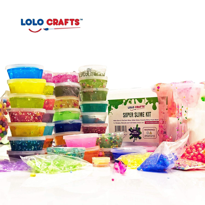 Amazon Com Diy Slime Kit Supplies Kids Ready Slimes Making Kits