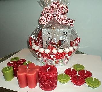 Christmas Floating Candles.Amazon Com Christmas Super Large Candle Gift Basket For