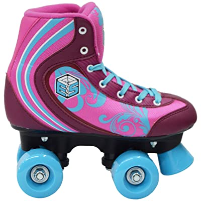 New! Epic Cotton Candy Quad Roller Skates w/2 Pr. Laces (Pink & Blue) : Sports & Outdoors