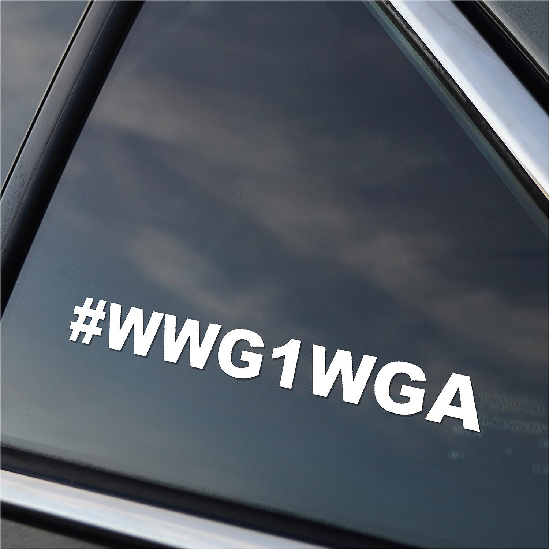 #WWG1WGA Vinyl Car Window Decal Sticker White