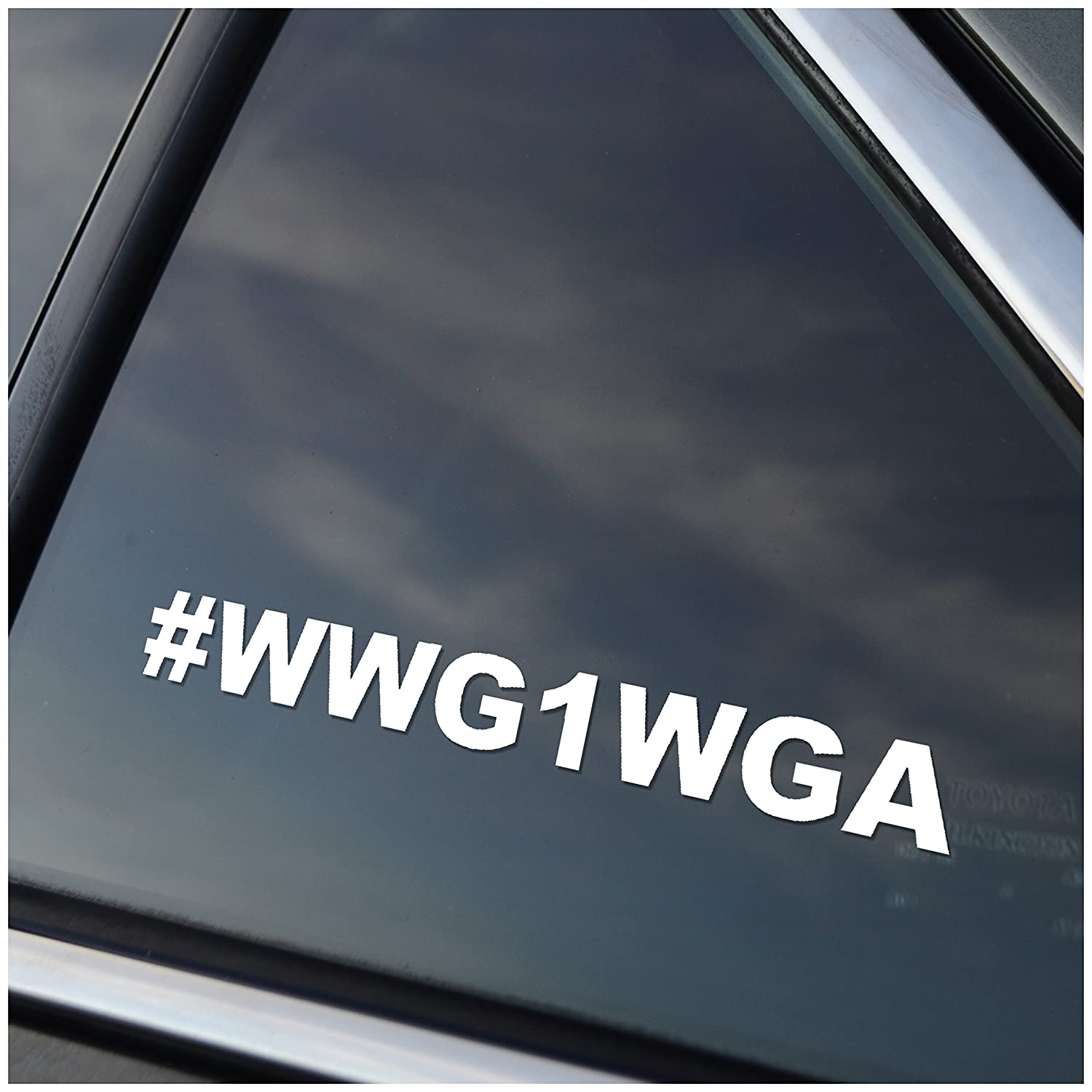 WWG1WGA Vinyl Car Window Decal Sticker White Gourmet Poultry Products of Oklahoma Inc