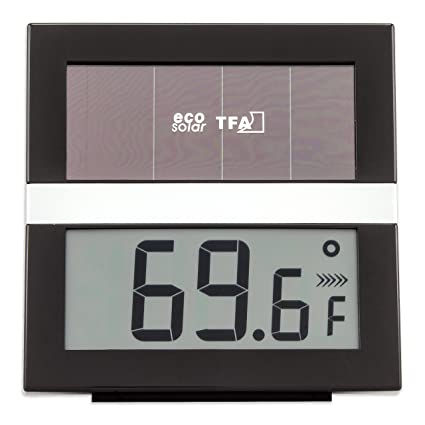 Solarthermometer mit Hygrometer Thermometer weiß solar