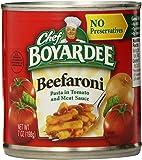 Chef Boyardee Beefaroni, 7oz (Pack of 24)