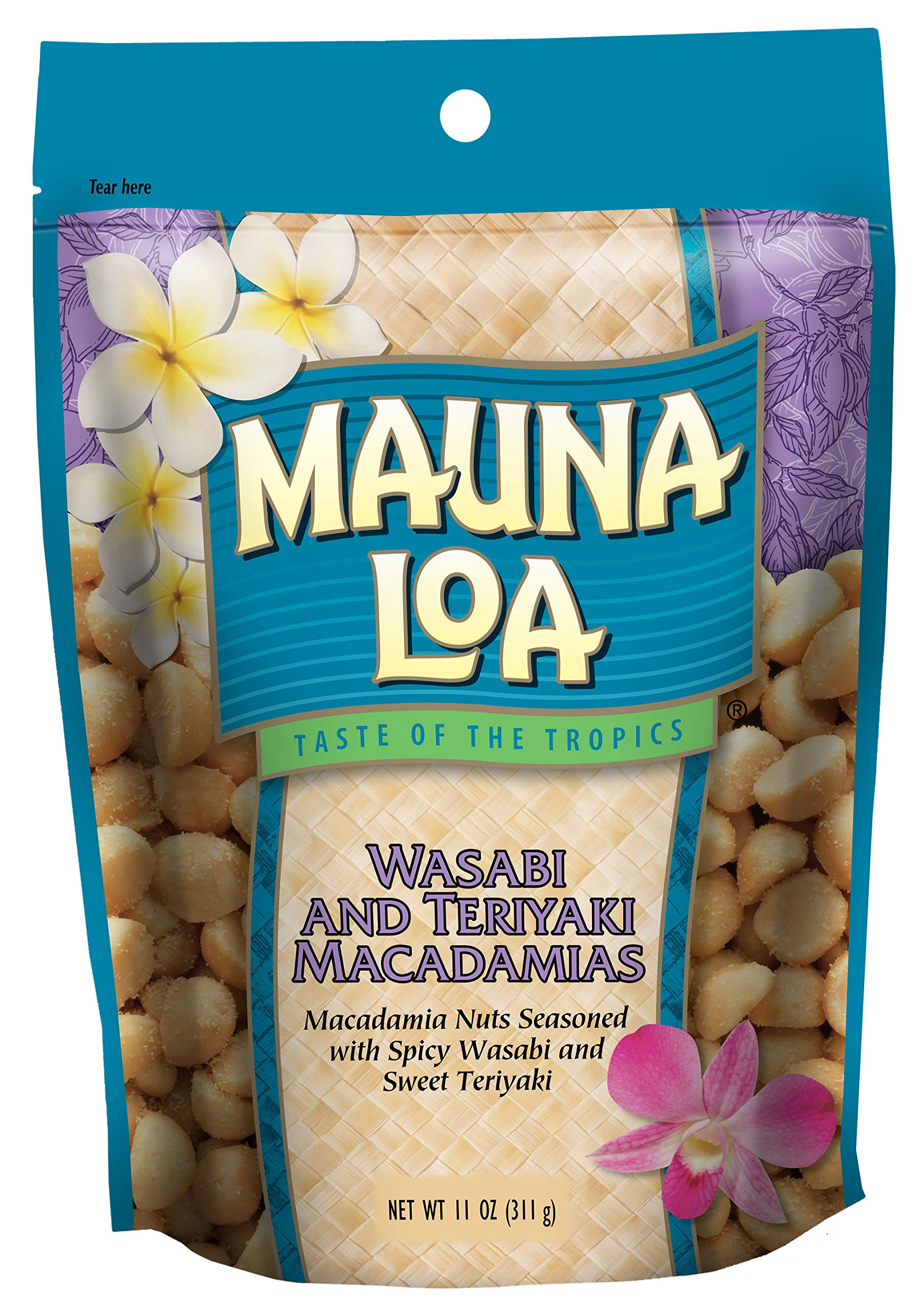 Mauna Loa Wasabi & Teriyaki Macadamia Nuts, 11-Ounce Bag (Pack Of 12)