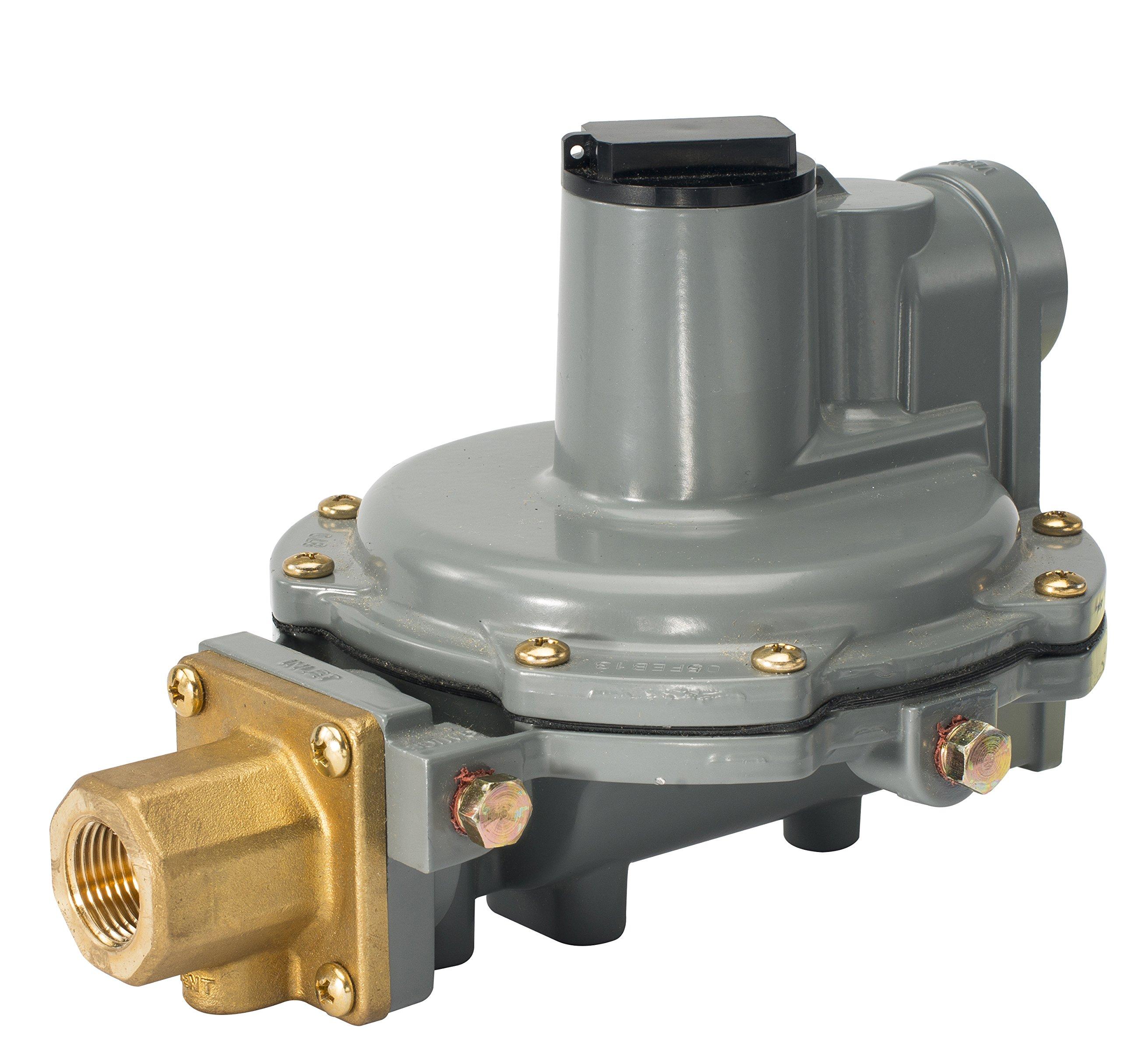 Emerson-Fisher LP-Gas Equipment R632A-JFF Integral 2-Stage Regulator, 9-13'' W.C Spring, POL'' x 3/4'' NPT