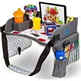 Kids Travel Play Tray by KENLEY KIDS | Car Seat Activity Tray | Waterproof, Food & Snack Tray with Tablet/iPad/Cup…