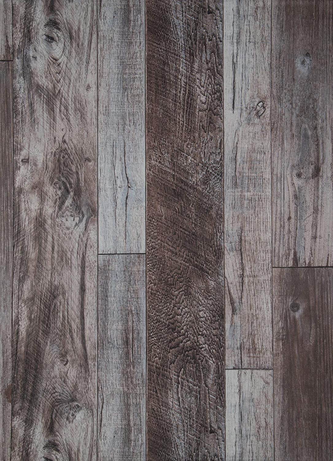 17.7in×236in Wood Wallpaper Peel and Stick Self Adhesive Wooden Wall Paper Home Decorative Wood Plank No Glue Left When Removed