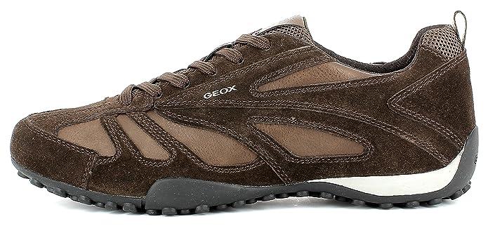 Geox U5207D Snake Sportlicher Herren Sneaker, Schnürhalbschuh, Freizeitschuh, Atmungsaktiv, Lose Einlegesohle, Wechselfußbett