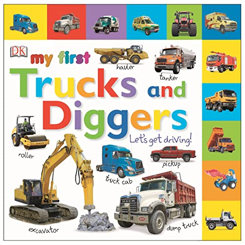 Tabbed Board Books: My First Trucks and Diggers: Let's Get Driving! (Tab Board Books)