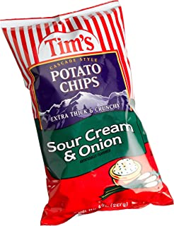 product image for Tim's Cascade Style Potato Chips, Sour Cream & Onion, 8 Ounce