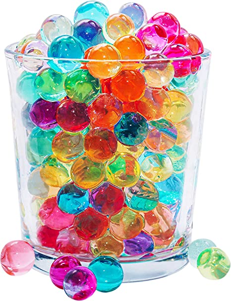 Clear Water Beads Magic Water Absorbent Pearls Gel Kids Adults Jelly Balls Crystal Soil Aqua Gems Sensory Therapy Frozen Themed