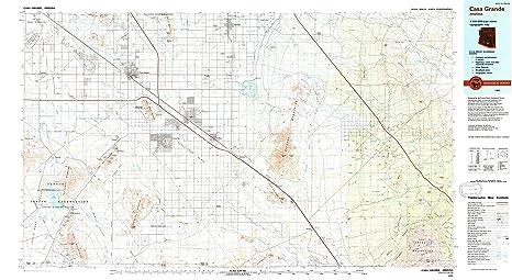 Amazon.com : YellowMaps Casa Grande AZ topo map, 1:100000 Scale, 30 on