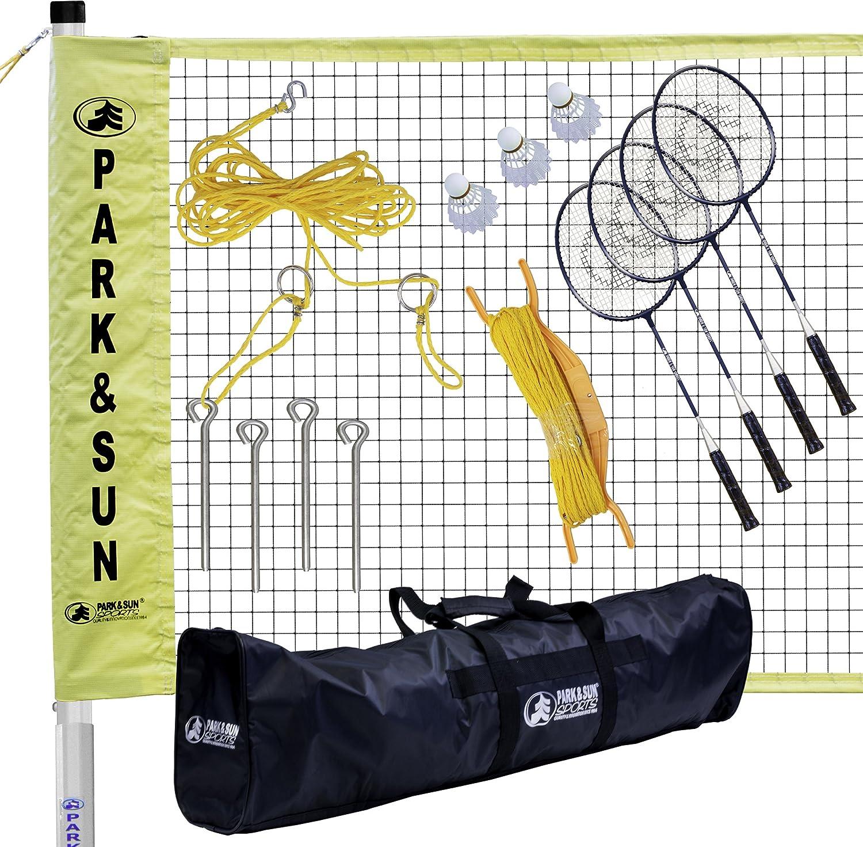 Park & Sunスポーツポータブルインドア/アウトドアバドミントンNetシステムwith Carrying Bag and Accessories :トーナメントシリーズ