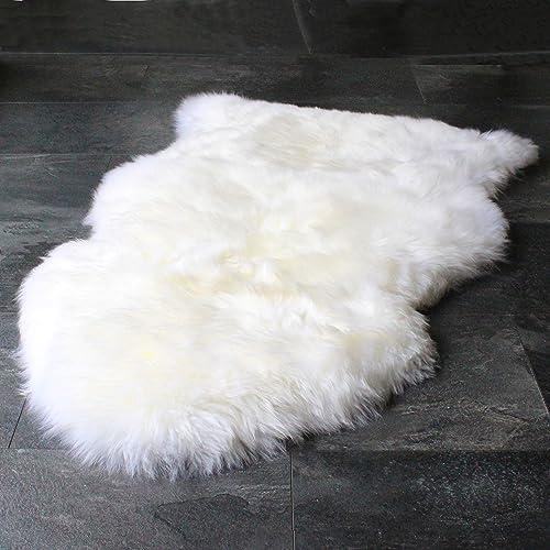 Outlavish Sheepskin Rug Genuine Soft Natural Merino 2 x 3 White Ivory