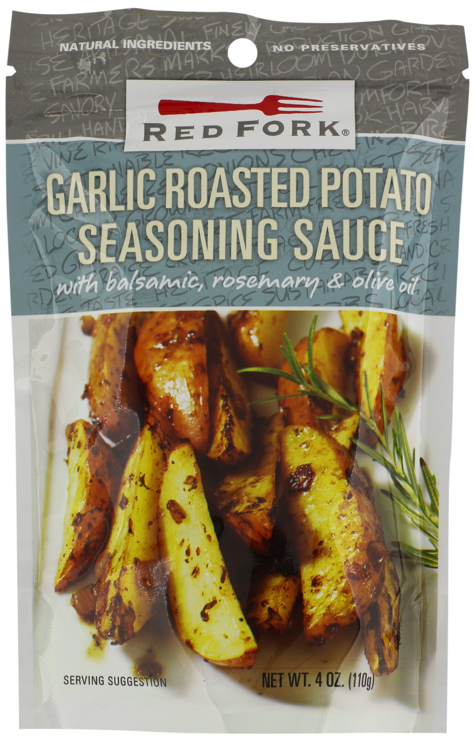 Red Fork Seasoning Sauce, Garlic Roasted Potato, 4 Ounce (Pack of 8) by RED FORK