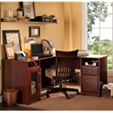 Bush Furniture Cabot L Shaped Desk in Harvest Cherry
