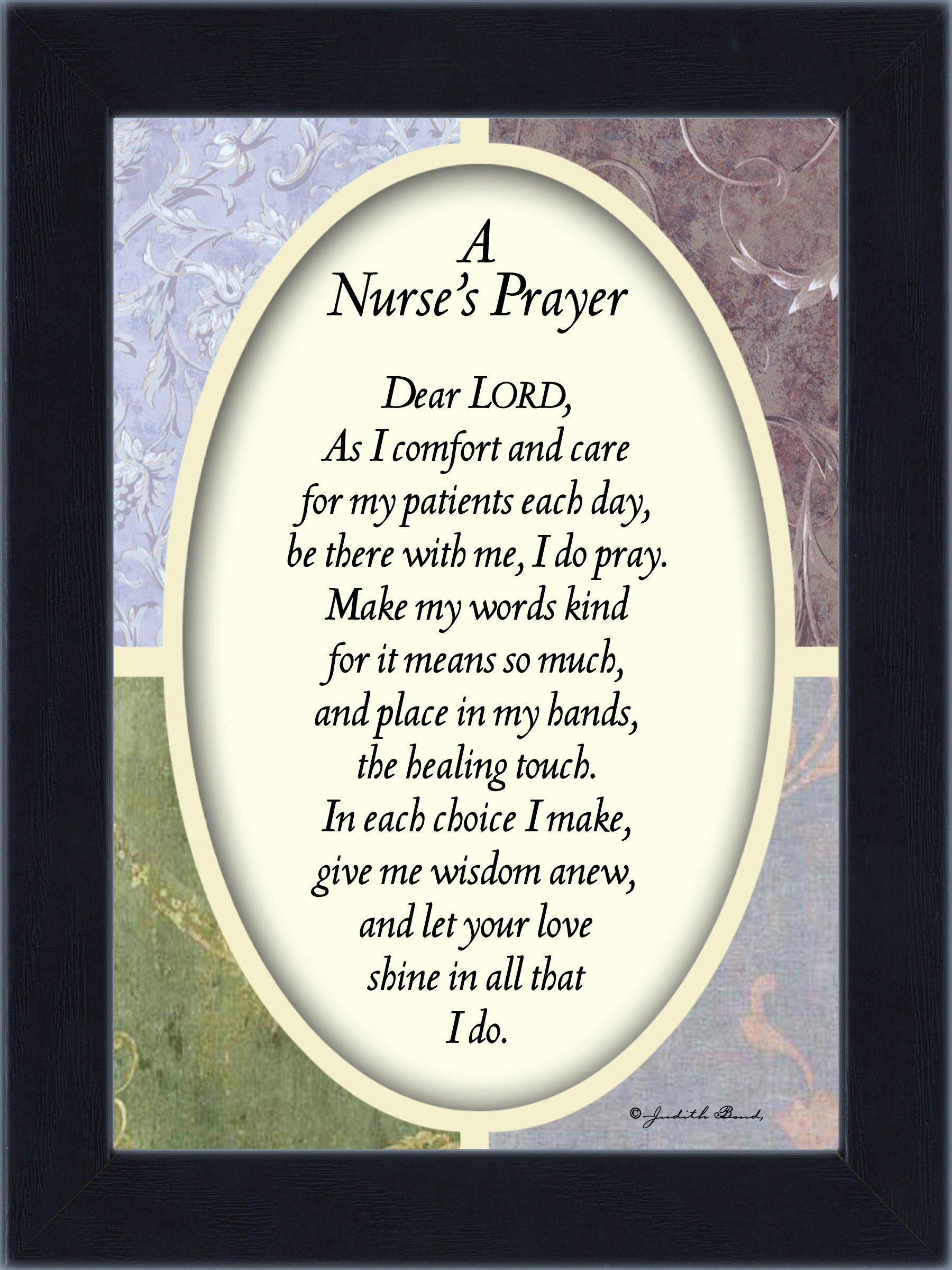 Reflections A Nurses Prayer, For Nurses Gifts, New Nurse Gift, 7x9 77997BC
