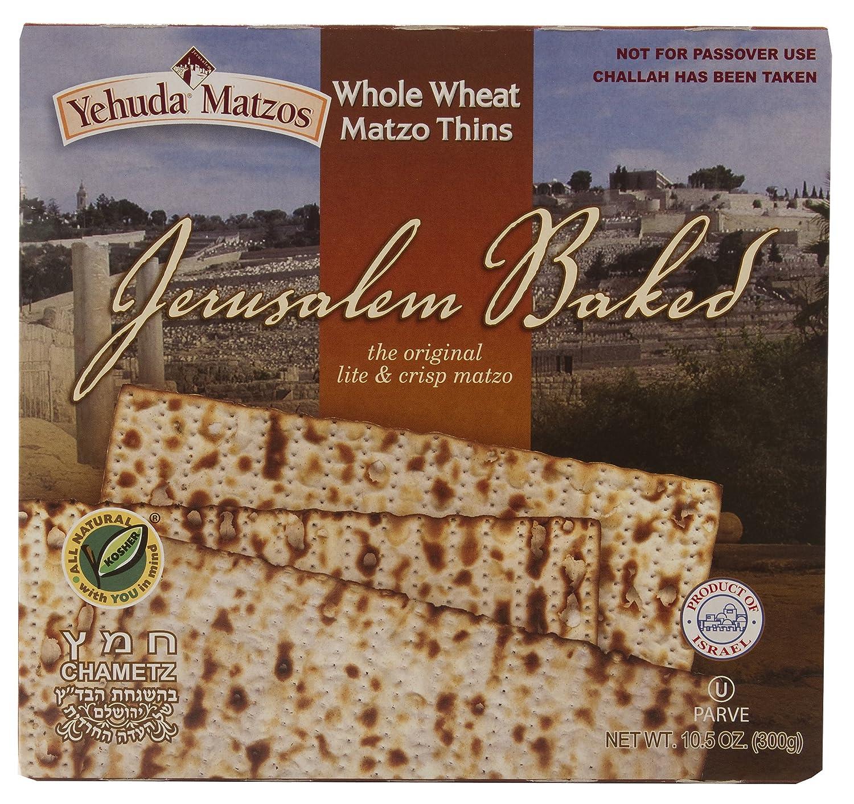 Yehuda Whole Wheat 10.5 oz Matzo Thins (3 Pack)