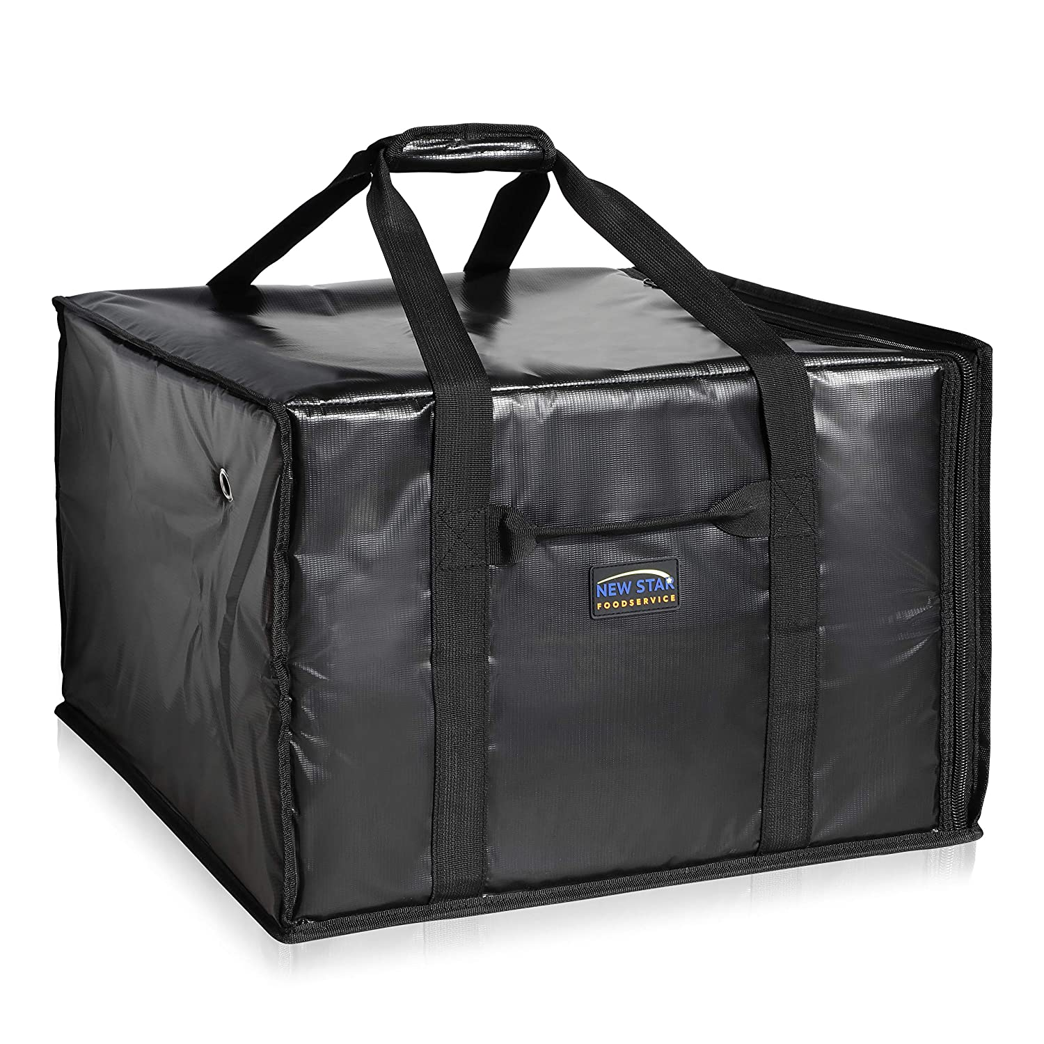 """New Star Foodservice 51148 Insulated Pizza Delivery Bag, 20"""" by 19"""" by 13"""", Black"""