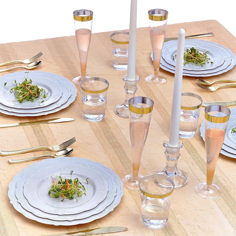 Silver Spoons 1869-SiS Assiettes jetables en plastique Gris