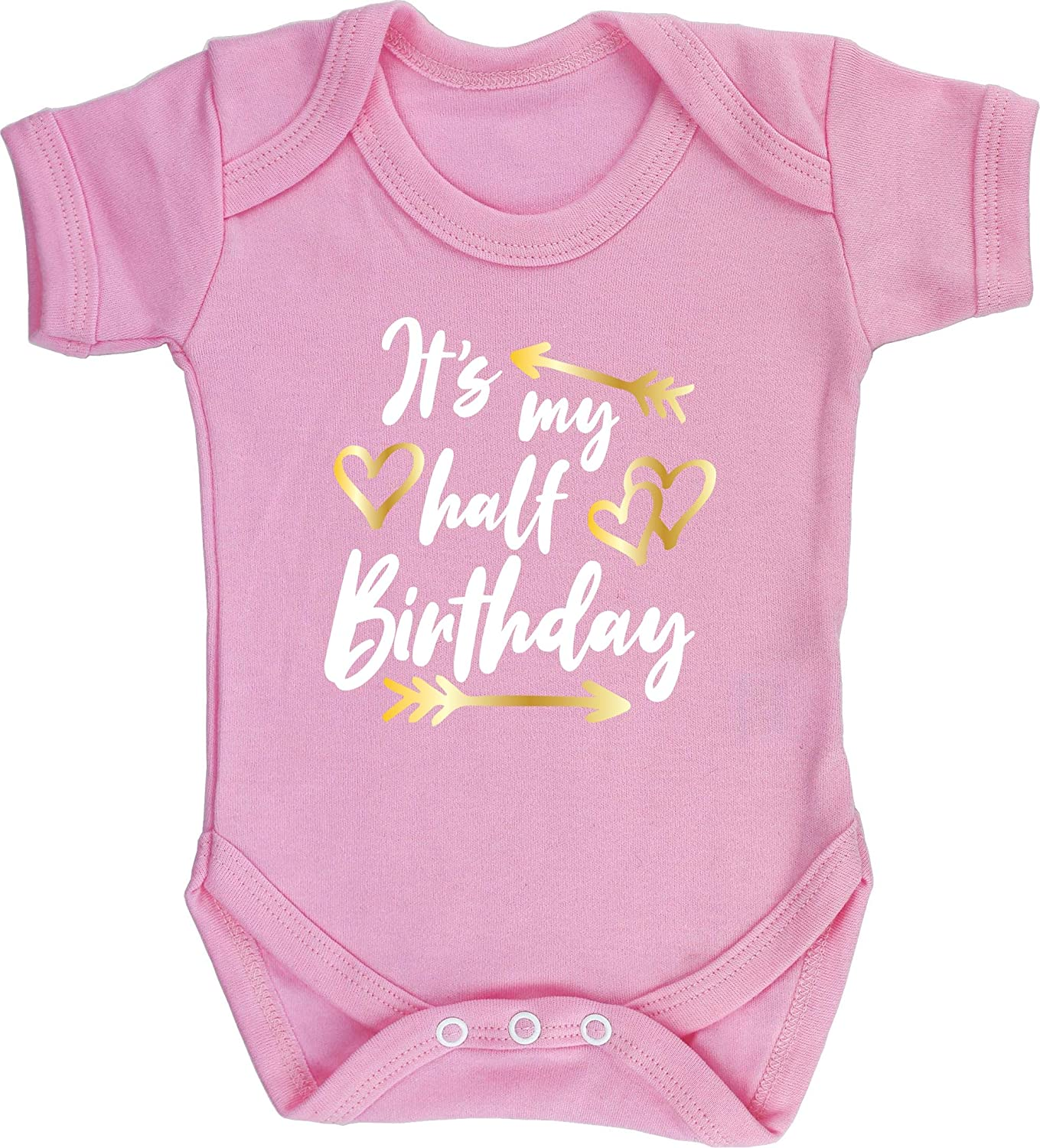 Boys Girls Hippowarehouse Its My Half Birthday Baby Vest Bodysuit Short Sleeve