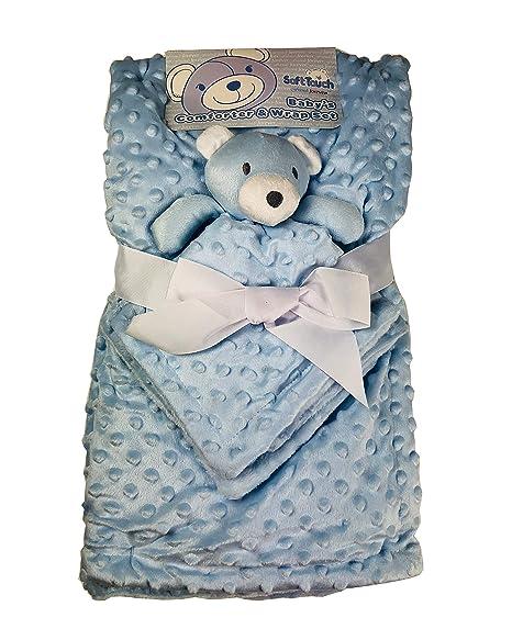 Baby Blue Soft plush fleece pram//moses basket//crib baby blanket