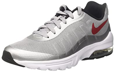 buy popular 8ef26 b5c08 Nike Men s Air Max Invigor Sneakers Wolf Grey Varsity Red-Black-White,