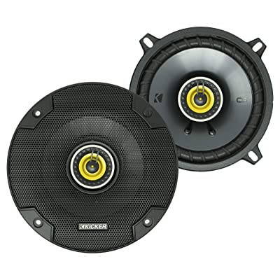KICKER CS Series CSC5 5.25-Inch Car Audio Speaker with Woofers, Yellow (2 Pack): Automotive