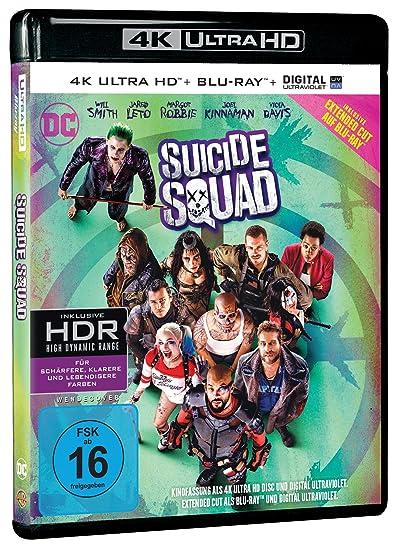 Suicide Squad Kinofassung als 4K Ultra HD + Extended Cut als Blu-ray Francia Blu-ray: Amazon.es: Robbie, Margot, Leto, Jared, Eastwood, Scott, Courtney, Jai, Delevingne, Cara, Smith, Will, Kinnaman, Joel, Davis, Viola, Ayer,