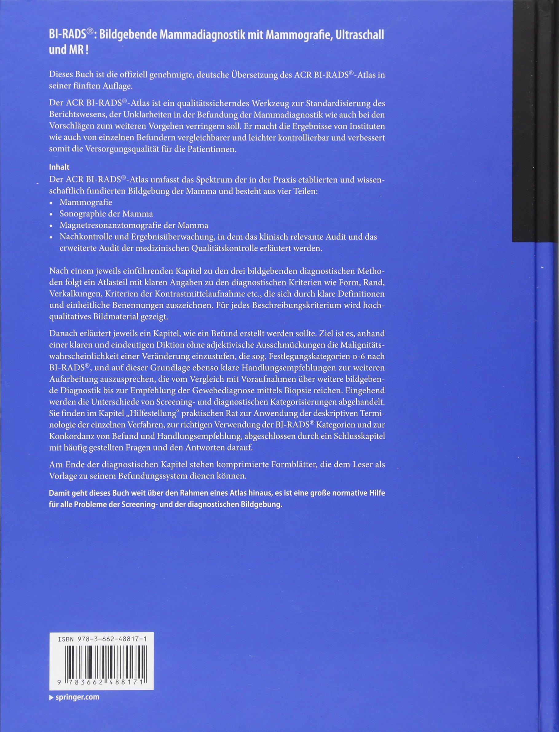 ACR BI-RADS®-Atlas der Mammadiagnostik: Richtlinien zu Befundung ...