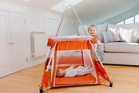 Travel Cot tepee mosquito net £99 BabyHub new model green KIWI OFFER