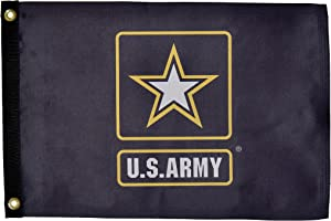 In the Breeze U.S. Army Logo Lustre Grommet Flag, 12 by 18-Inch