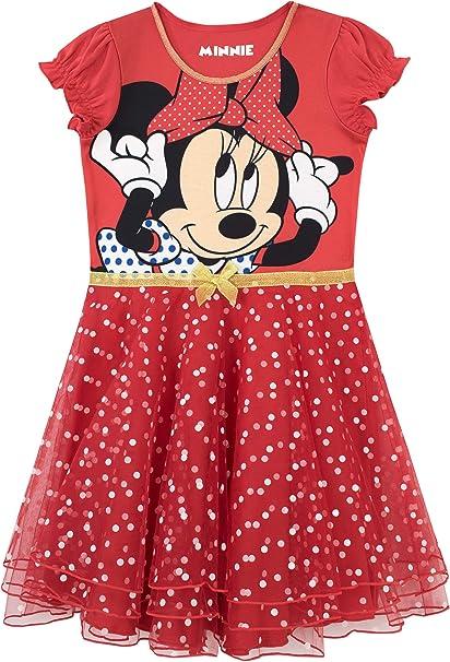 Disney Camisón para niñas Minnie Mouse Rojo 8-9 Años: Amazon ...