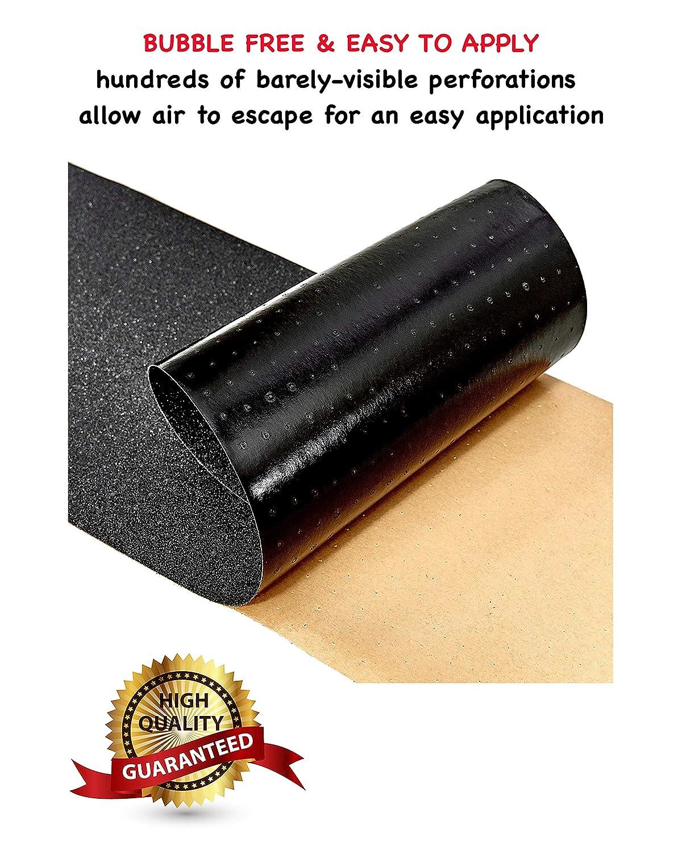 "Trouble Skateboards S00 Bubble Free Black Griptape for Skateboards Trouble Pack of 2 Skateboard Grip Tape 9/""x33/"""